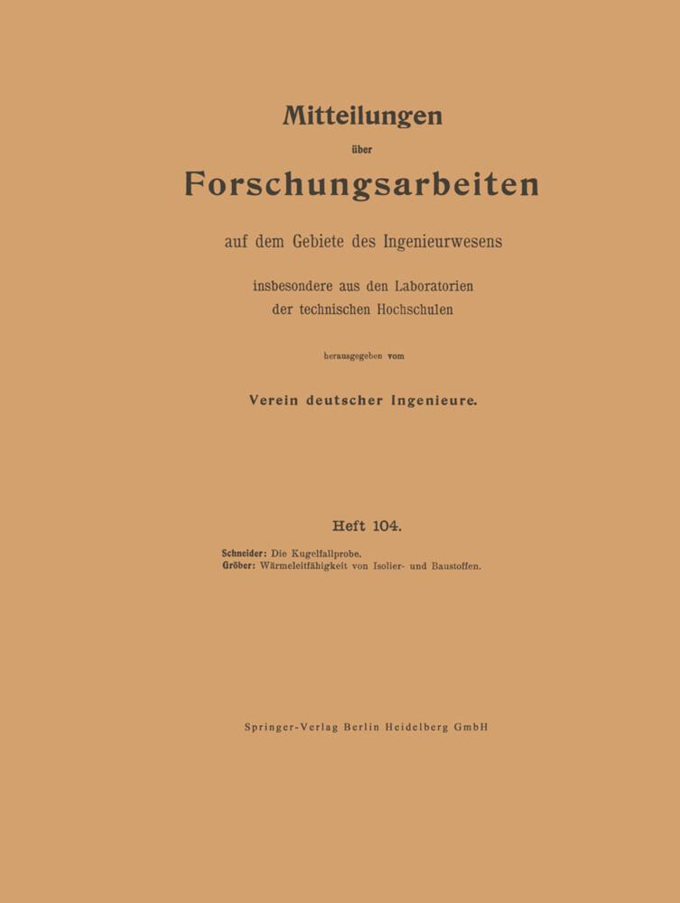 Mitteilungen über Forschungsarbeiten auf dem Gebiete des Ingenieurwesens insbesondere aus den Laboratorien der technischen Hochschulen als Buch (kartoniert)