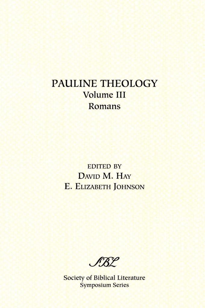 Pauline Theology, Volume III als Taschenbuch