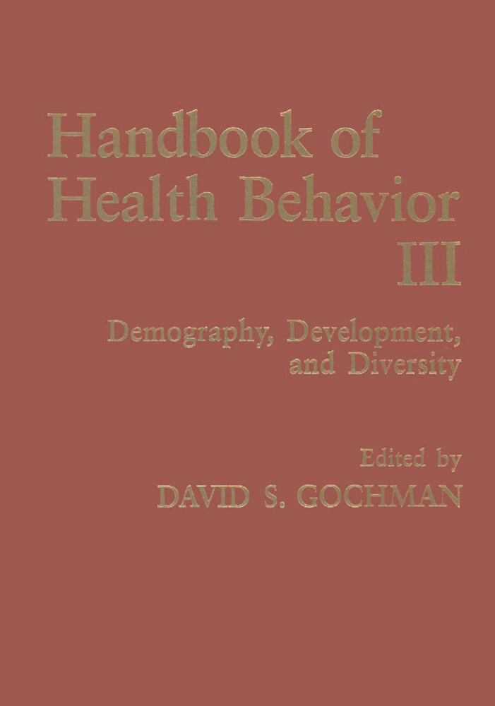 Handbook of Health Behavior Research III als Buch (kartoniert)