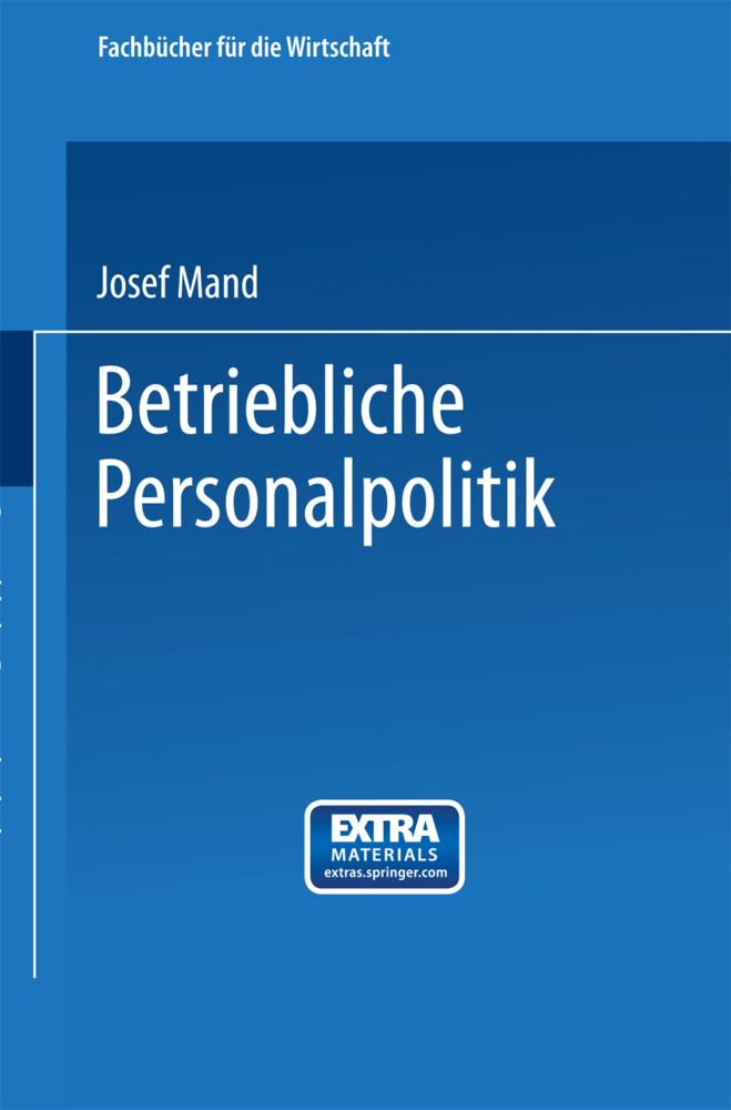 Betriebliche Personalpolitik als Buch (kartoniert)