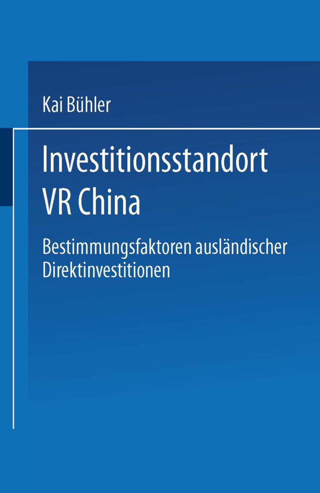 Investitionsstandort VR China als Buch (kartoniert)
