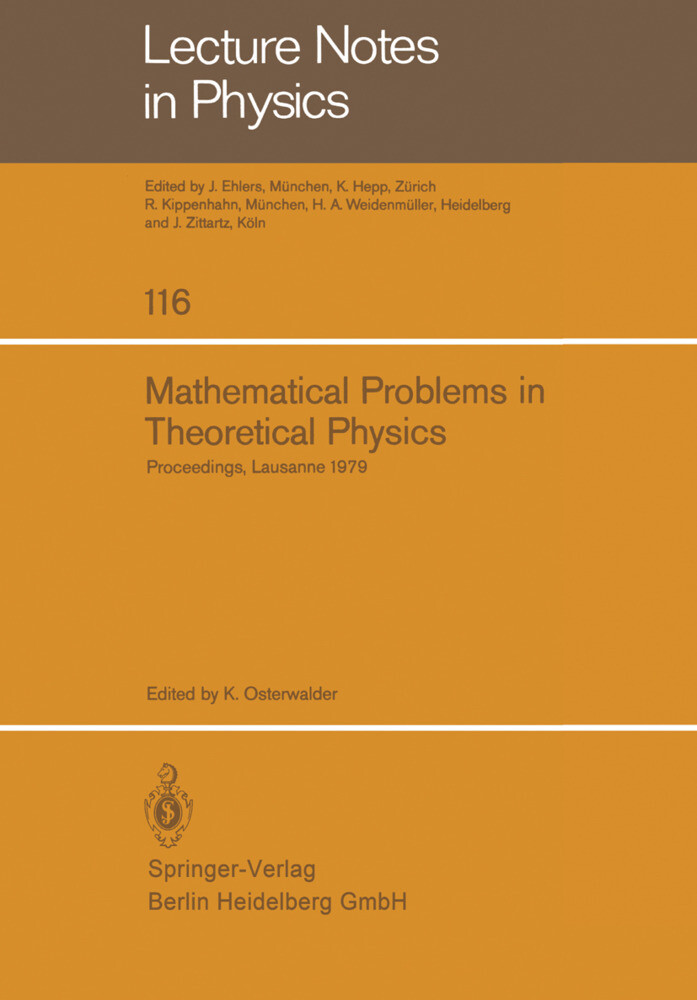 Mathematical Problems in Theoretical Physics als Buch (kartoniert)