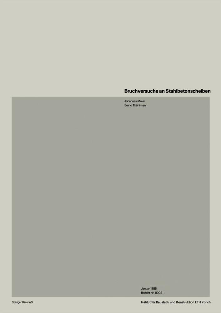 Bruchversuche an Stahlbetonscheiben als Buch (kartoniert)