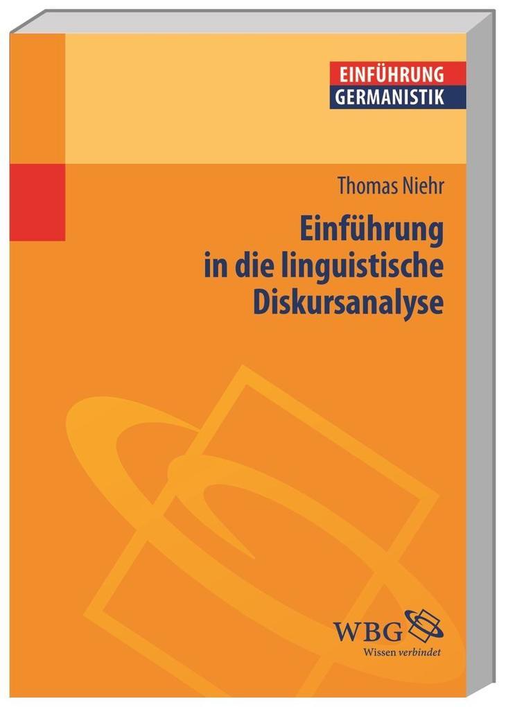 Einführung in die linguistische Diskursanalyse als Buch (kartoniert)