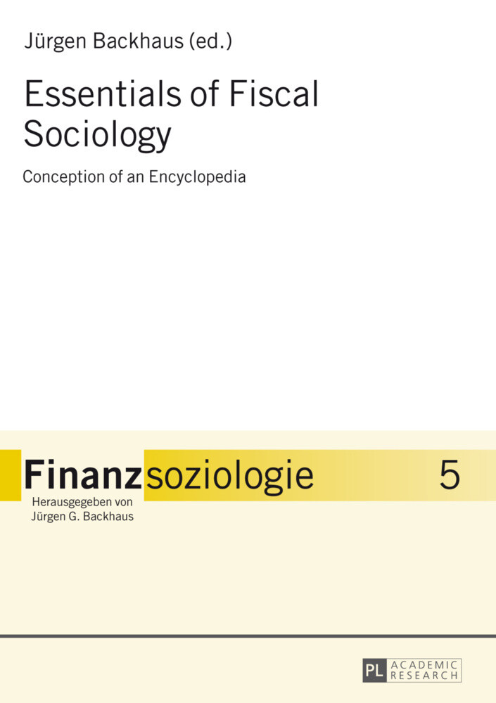 Essentials of Fiscal Sociology als Buch (gebunden)