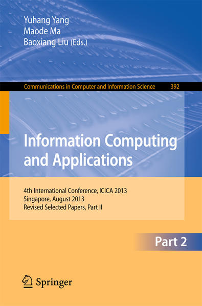 Information Computing and Applications als Buch (kartoniert)