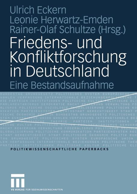 Friedens- und Konfliktforschung in Deutschland als Buch (kartoniert)