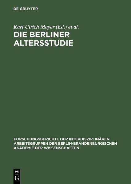 Die Berliner Altersstudie als Buch (gebunden)