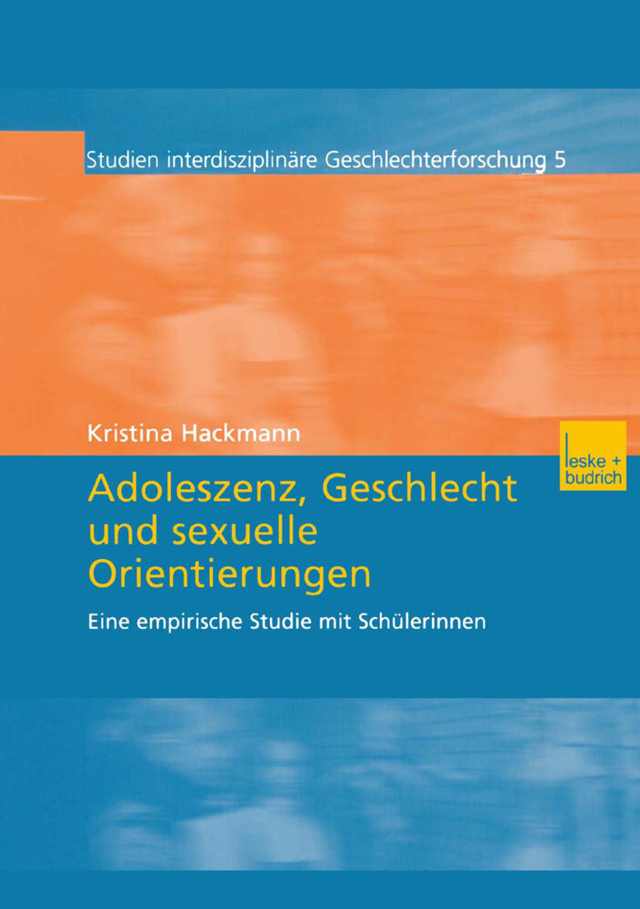 Adoleszenz, Geschlecht und sexuelle Orientierungen als Buch (kartoniert)