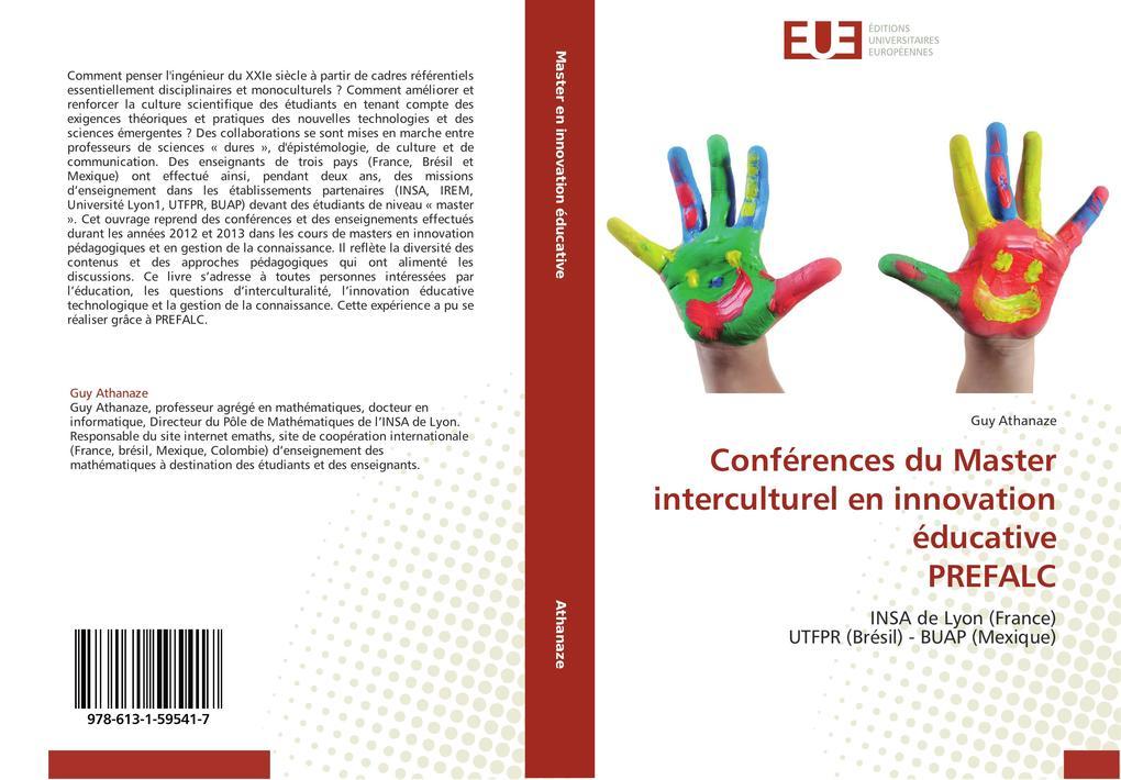 Conferences Du Master Interculturel En Innovation Educative Prefalc als Taschenbuch