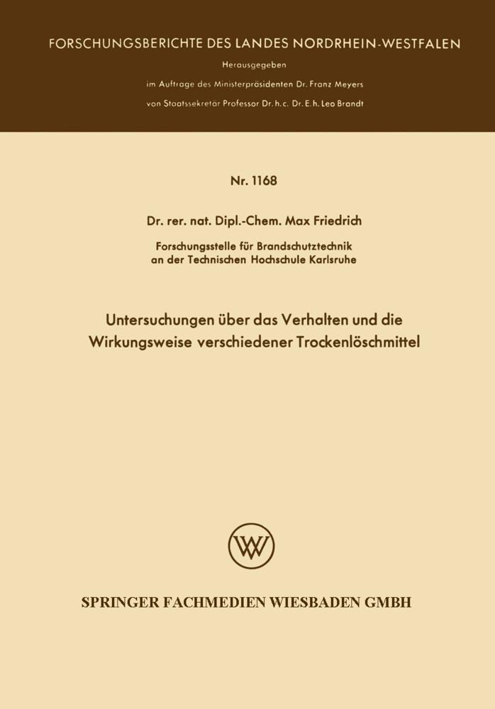Untersuchungen über das Verhalten und die Wirkungsweise verschiedener Trockenlöschmittel als Buch (kartoniert)