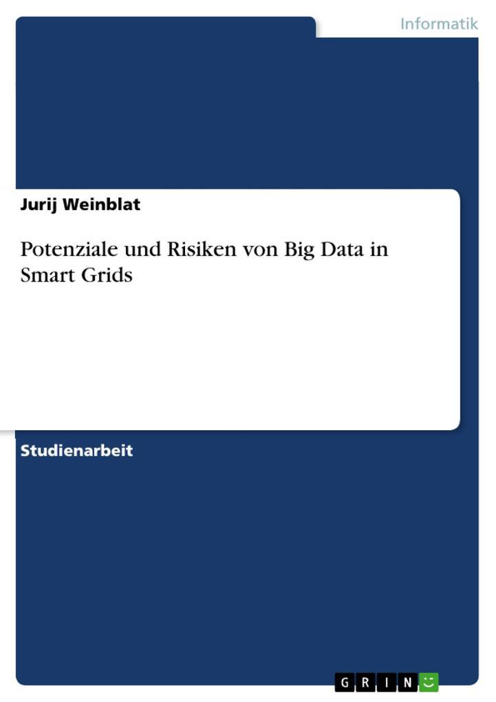 Potenziale und Risiken von Big Data in Smart Grids als eBook pdf