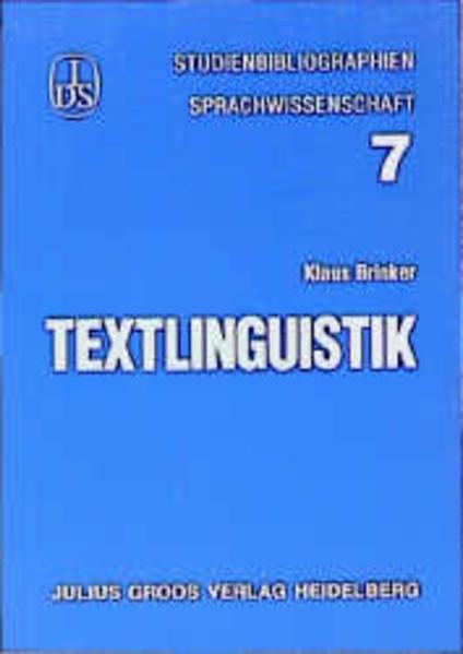Textlinguistik als Buch (kartoniert)