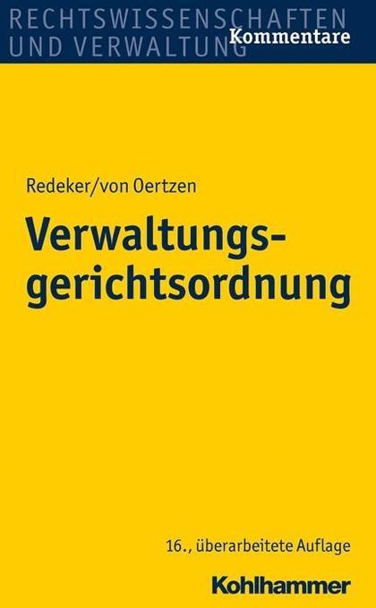 Verwaltungsgerichtsordnung als Buch (gebunden)