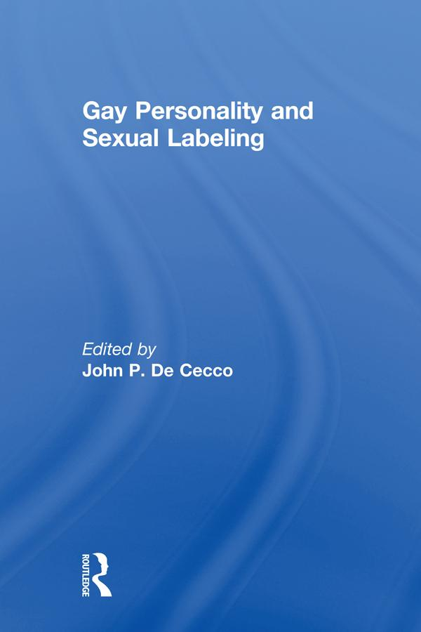 Gay Personality And Sexual Labeling als eBook pdf