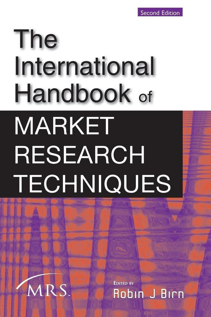 The International Handbook of Market Research Techniques als Buch (kartoniert)