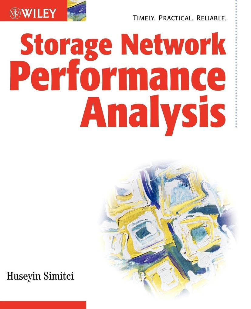 Storage Network Performance Analysis als Taschenbuch