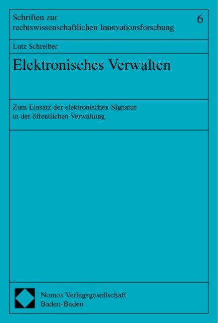 Elektronisches Verwalten als Buch (kartoniert)