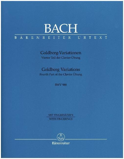 Goldberg-Variationen BWV 988 als Buch (kartoniert)