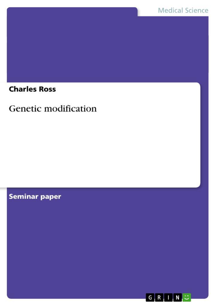 Genetic modification als Buch (geheftet)