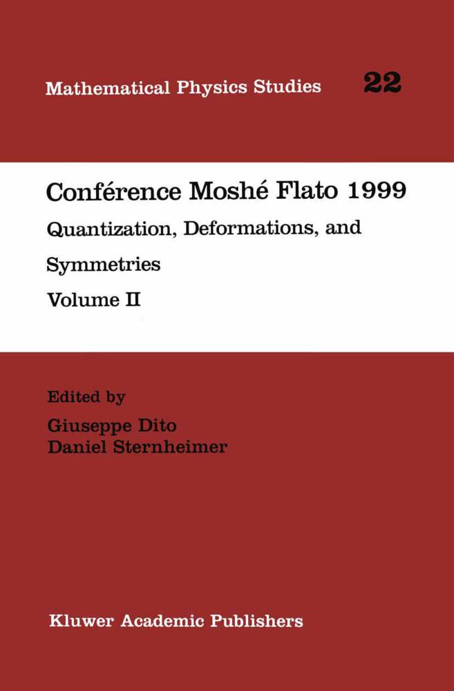 Conférence Moshé Flato 1999 als Buch (gebunden)