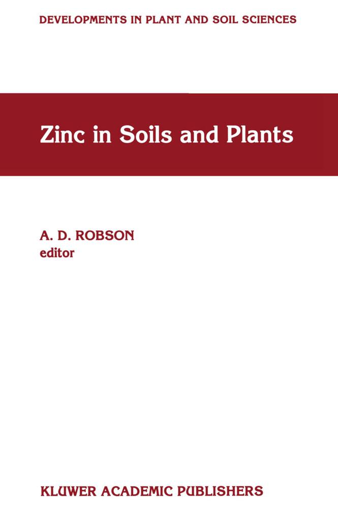 Zinc in Soils and Plants als Buch (gebunden)