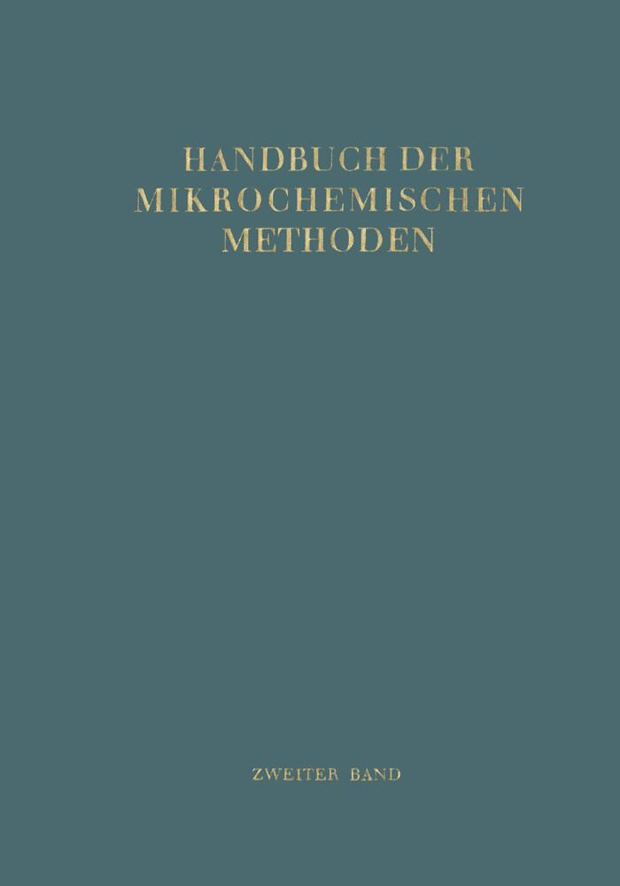 Handbuch der Mikrochemischen Methoden als Buch