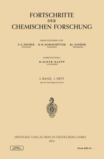 Fortschritte der Chemischen Forschung als Buch (kartoniert)