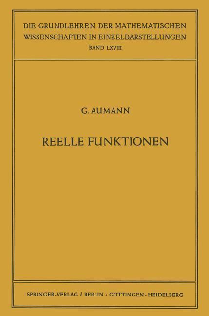 Reelle Funktionen als Buch