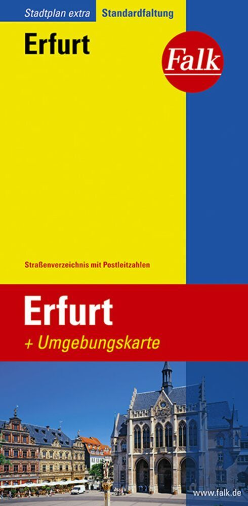 Falk Stadtplan Extra Standardfaltung Erfurt als Blätter und Karten