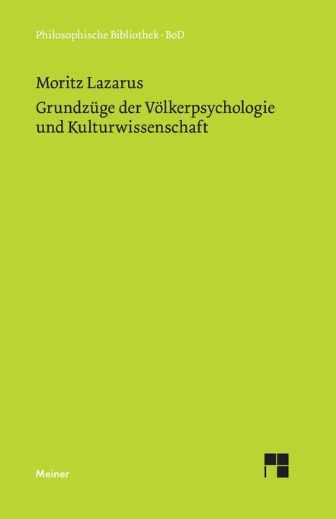 Grundzüge der Völkerpsychologie und Kulturwissenschaft als Buch (gebunden)
