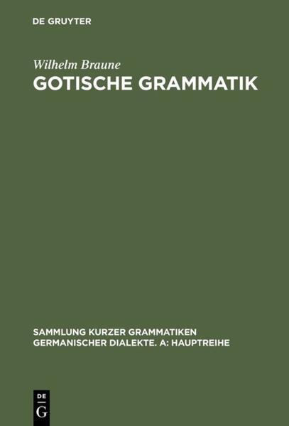Gotische Grammatik als Buch (kartoniert)