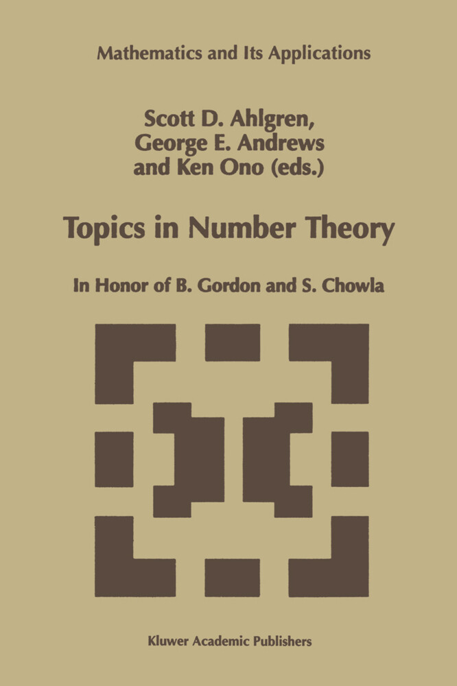 Topics in Number Theory: In Honor of B. Gordon and S. Chowla als Buch (gebunden)
