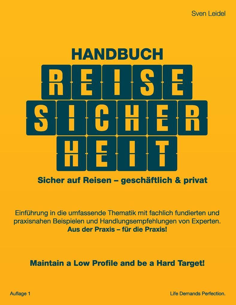 Handbuch Reisesicherheit als Buch