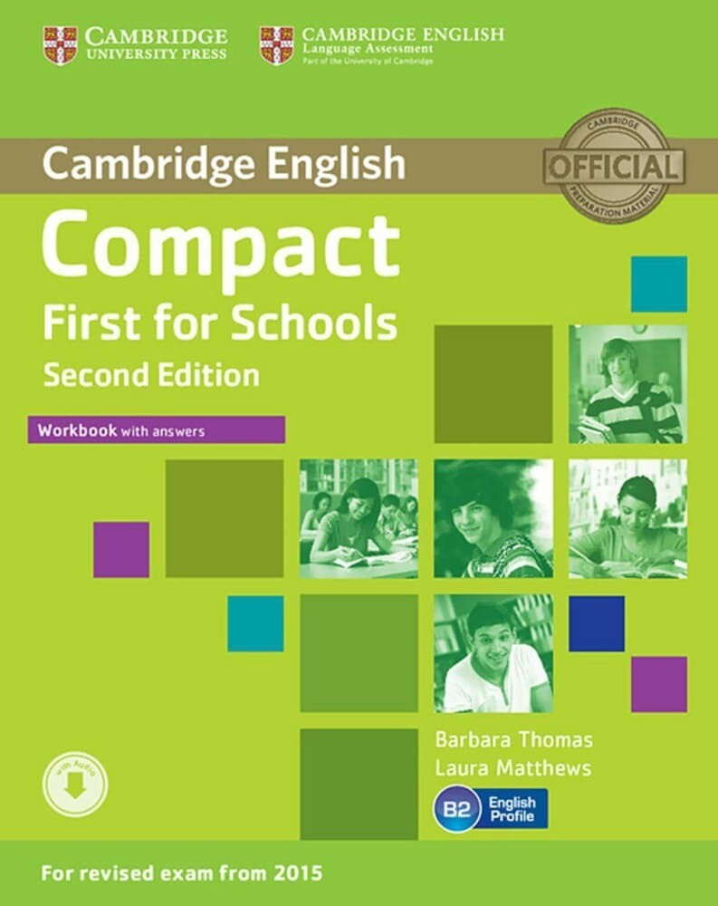 Compact First for Schools - Second edition. Workbook with answers with downloadable audio als Buch (kartoniert)