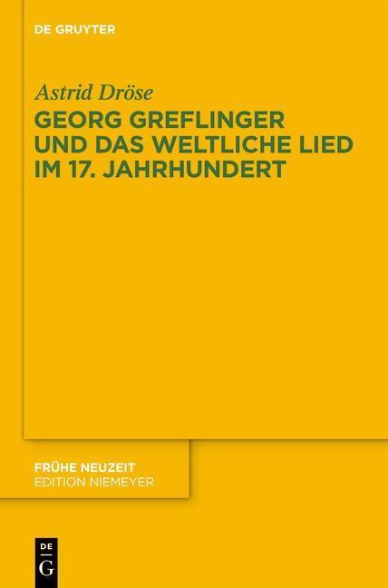 Georg Greflinger und das weltliche Lied im 17. Jahrhundert als eBook epub