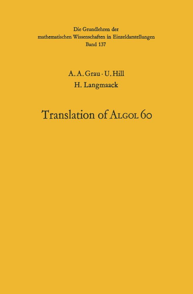 Handbook for Automatic Computation als Buch (kartoniert)