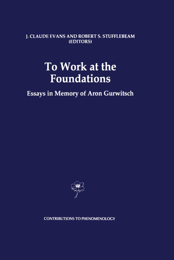 To Work at the Foundations als Buch (gebunden)