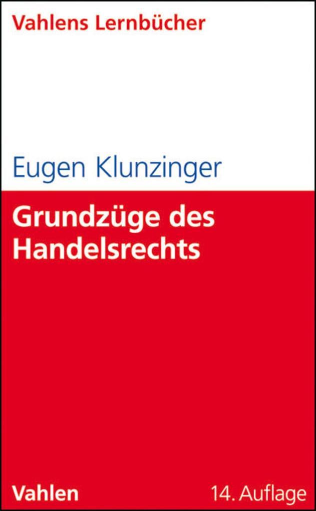 Grundzüge des Handelsrechts als eBook pdf