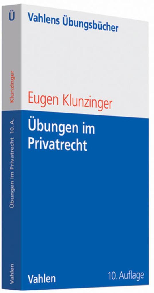 Übungen im Privatrecht als eBook pdf