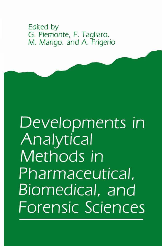 Developments in Analytical Methods in Pharmaceutical, Biomedical, and Forensic Sciences als Buch (gebunden)