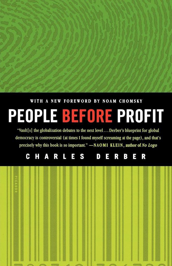 People Before Profit als Taschenbuch