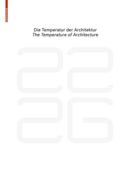 be 2226 Die Temperatur der Architektur / The Temperature of Architecture als eBook pdf