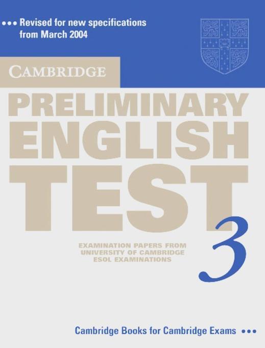 Cambridge Preliminary English Test 3 als Buch (kartoniert)