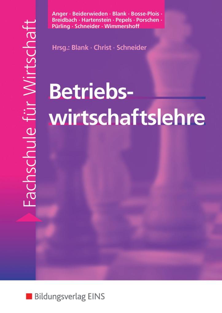 Betriebswirtschaftslehre. Lehr-/ Fachbuch als Buch (kartoniert)