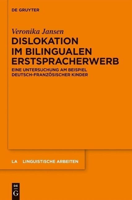 Dislokation im bilingualen Erstspracherwerb als eBook epub