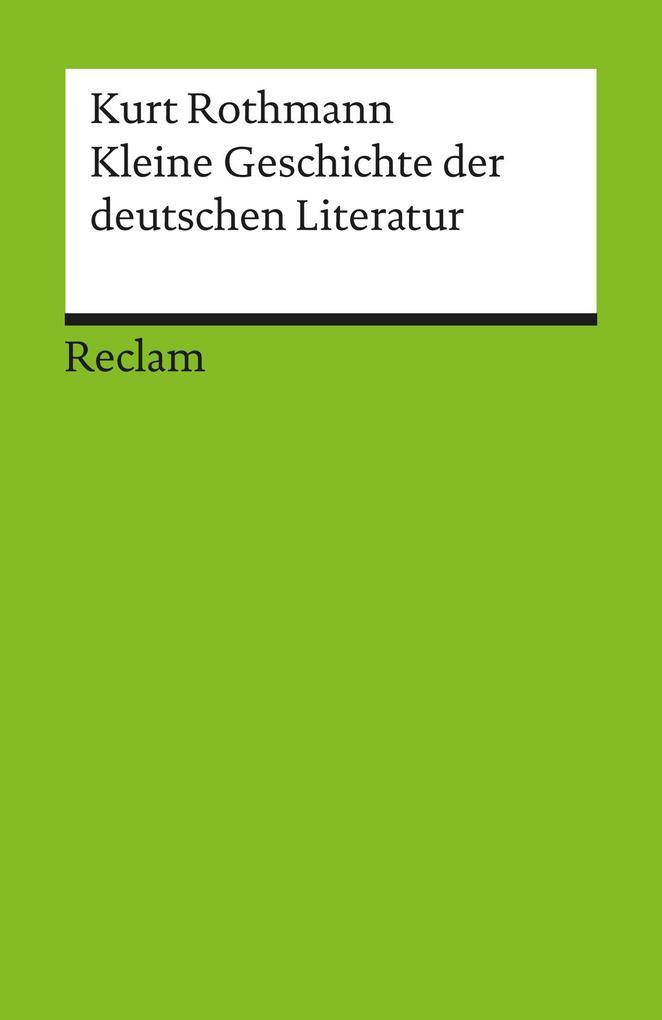Kleine Geschichte der deutschen Literatur als eBook epub
