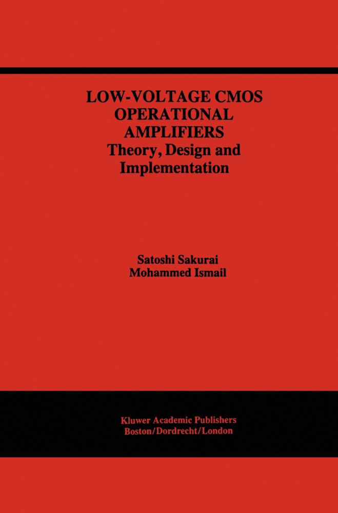 Low-Voltage CMOS Operational Amplifiers als Buch (gebunden)