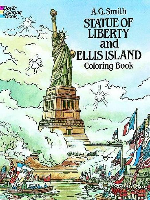 Statue of Liberty and Ellis Island Colouring Book als Taschenbuch