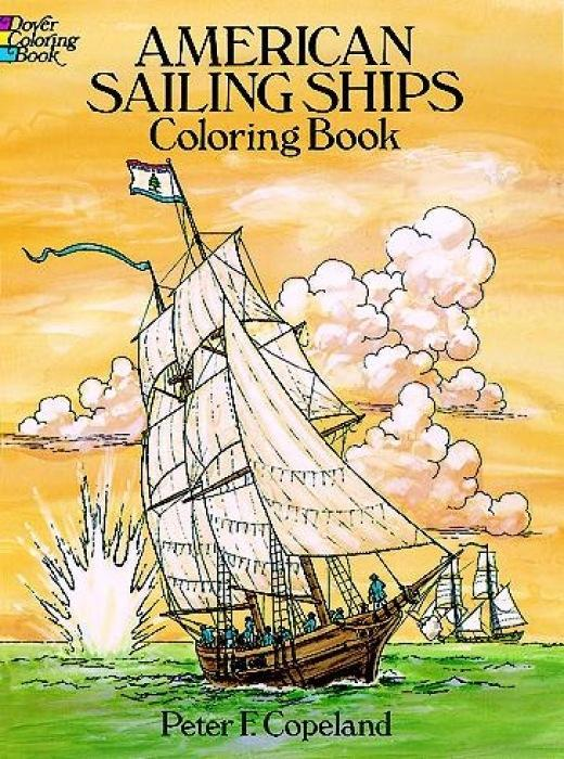 American Sailing Ships Coloring Book als Taschenbuch